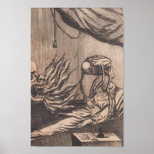 Death Illustration. Circa 1792. Print