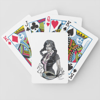 Death in Her Eyes Bicycle Playing Cards