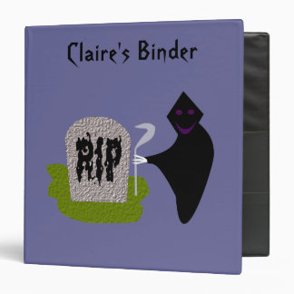 Death in the Cemetery Halloween Custom Binder