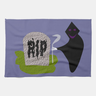 Death in the Cemetery Halloween Kitchen Towel