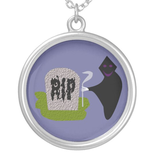 Death in the Cemetery Halloween Necklace