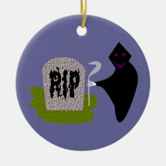 Death in the Cemetery Halloween Ornament