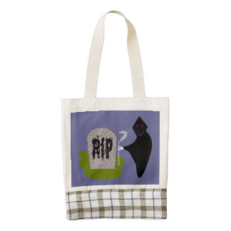 Death in the Cemetery Halloween Tote Zazzle HEART Tote Bag