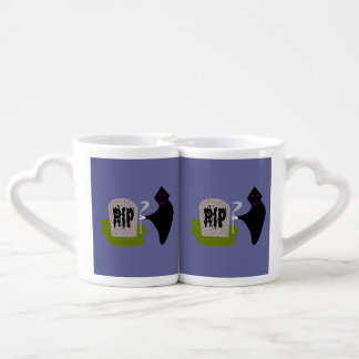 Death in the Cemetery Lovers Mugs Couples' Coffee Mug Set