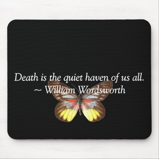 Death is a Quiet Haven Mouse Pad