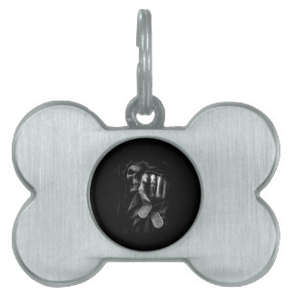 Death is Coming Pet Name Tag