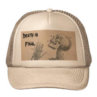 Death is Final Cap Trucker Hat