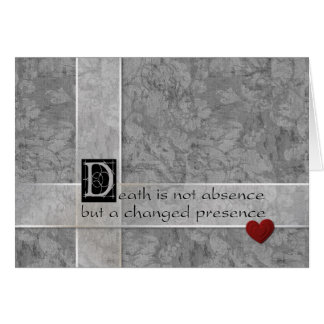Death is not absence greeting card