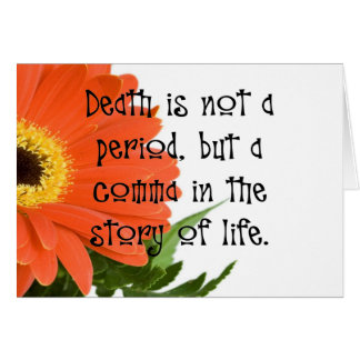 Death is Not the End Greeting Card