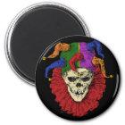 Death Jester Clown Skull 2 Inch Round Magnet (<em>$4.10</em>)