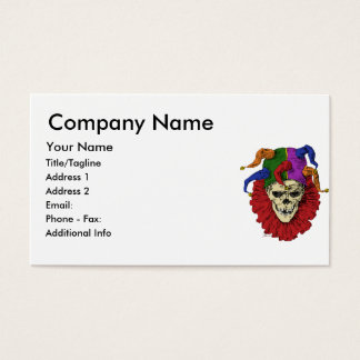 Death Jester Clown Skull Business Card