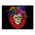 Death Jester Clown Skull Postcard (<em>$1.15</em>)