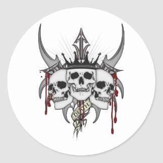 Death King Classic Round Sticker