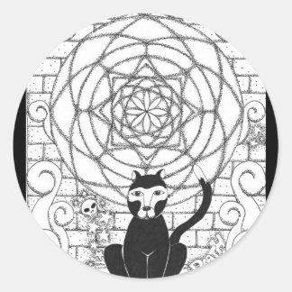 Death - Kitty of the Apocalypse Classic Round Sticker