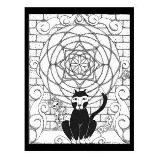Death - Kitty of the Apocalypse Postcard