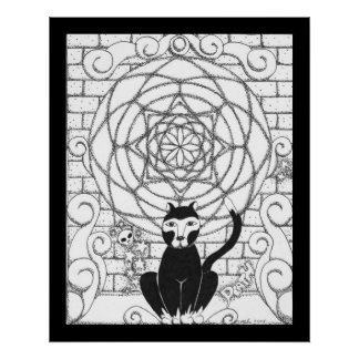 Death - Kitty of the Apocalypse Posters