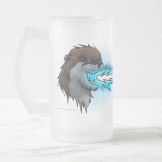 Death Laser Otter- Blue (Mug) Frosted Glass Beer Mug