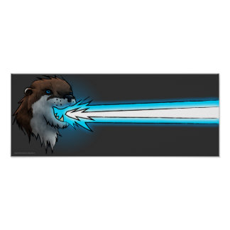 Death Laser Otter- Blue (Poster) Poster