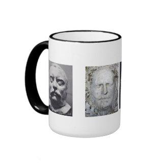 Death Masks of U S Presidents Coffee Mug