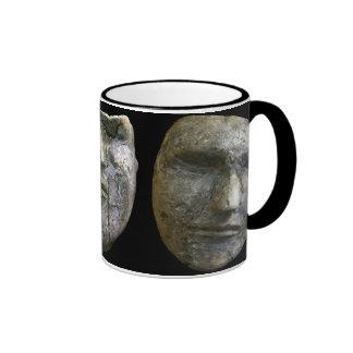 Death Masks Ringer Coffee Mug