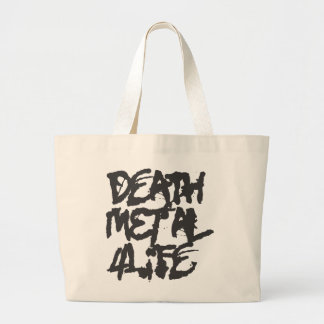 Death Metal 4 Life Canvas Bags