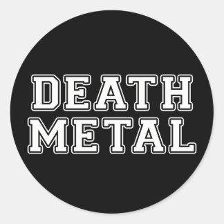 Death Metal Classic Round Sticker