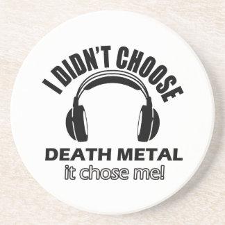 death metal designs coaster