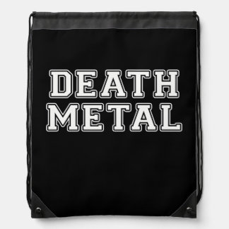 Death Metal Drawstring Bag