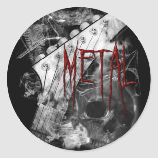 Death Metal Guitar Classic Round Sticker