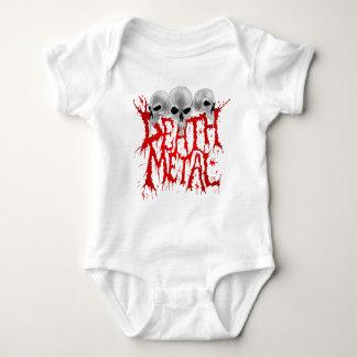 Death Metal Logo Baby Bodysuit