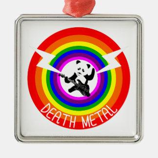 Death Metal Panda Metal Ornament