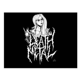 Death Metal Postcard