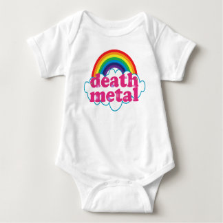 Death Metal rainbow design Baby Bodysuit