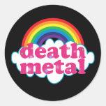 Death Metal rainbow design Classic Round Sticker