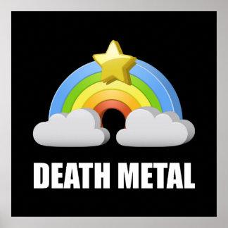 Death Metal Rainbow Poster