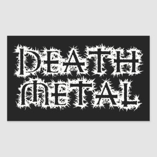 Death Metal Rectangular Sticker