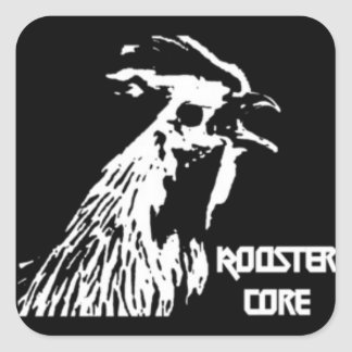 Death Metal Rooster Stickers