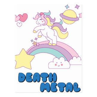 Death Metal unicorn Postcard