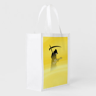 Death Metal Yellow Grocery Bag