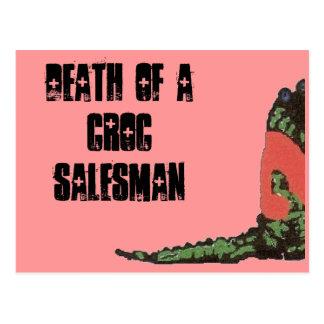 death of a croc salesman postcard
