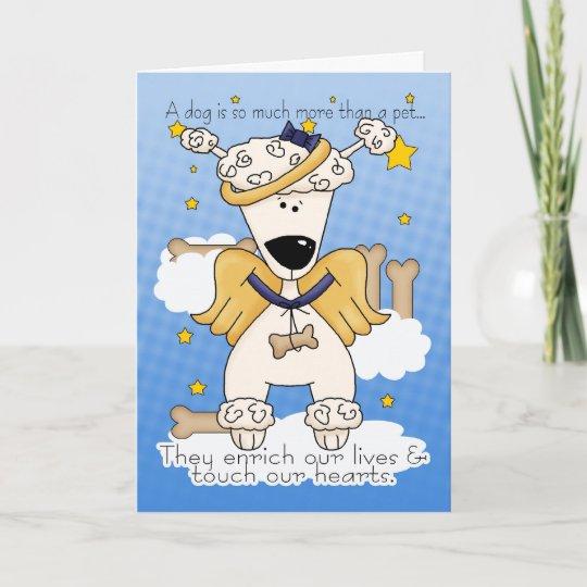 Loss Of Pet >> Death Of A Dog Sympathy Card Loss Of Pet Dog D