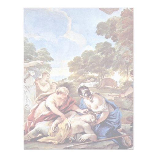 Death Of Adonis By Giordano Luca (Best Quality) Personalized Letterhead