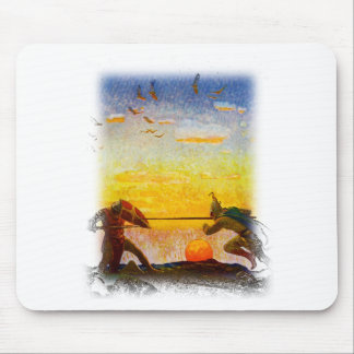Death of Arthur and Mordred Mouse Pad