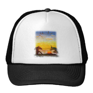 Death of Arthur and Mordred Trucker Hat