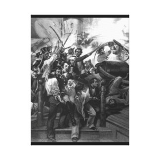 """Death of Captain Lawrence. """"Don't Give Up the Ship Canvas Print"""