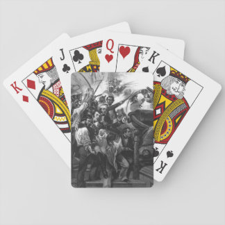"""Death of Captain Lawrence. """"Don't Give Up the Ship Playing Cards"""