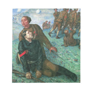 Death of Commissar by Kuzma Petrov-Vodkin Notepad