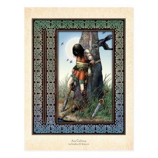 """""""Death of Cuchulainn"""" Postcard"""