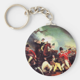 Death Of General Mercer at the Battle of Princeton Basic Round Button Keychain