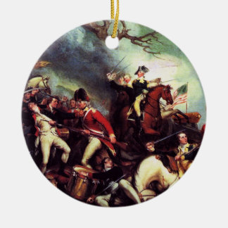 Death Of General Mercer at the Battle of Princeton Double-Sided Ceramic Round Christmas Ornament